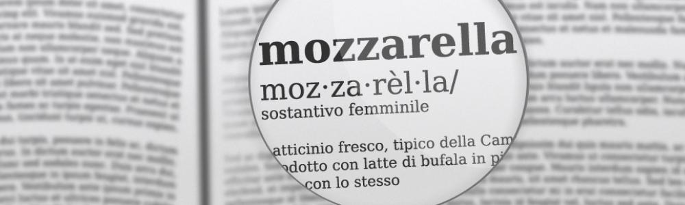 Etimologia di una mozzarella